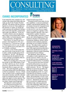 Evans Incorporated featured in Consulting Magazine