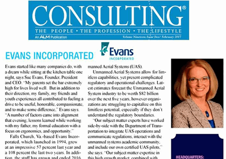 Evans Incorporated featured in Consulting Magazine's 2017 Seven Small Jewels
