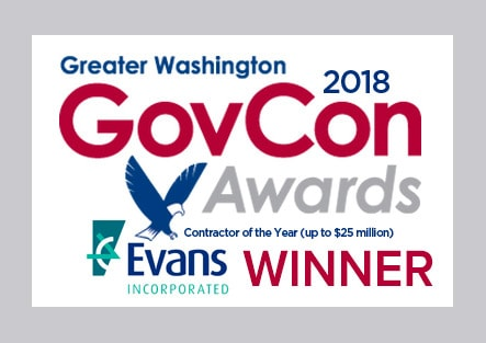 Greater Washington 2018 GovCon Award Winner Evans Incorporated